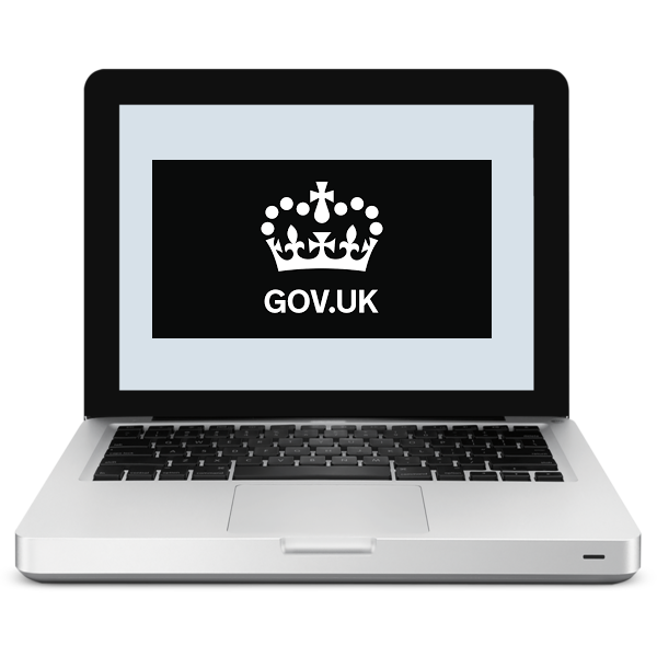 Computer, with U.K. Government symbol.