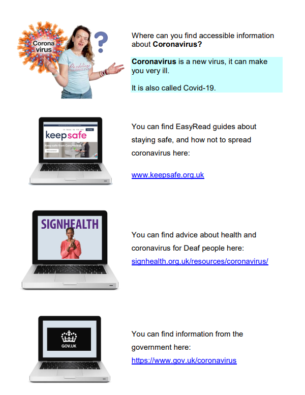 First Page of: Get Advice about Covid in Bristol Poster. Poster is available in other formats.