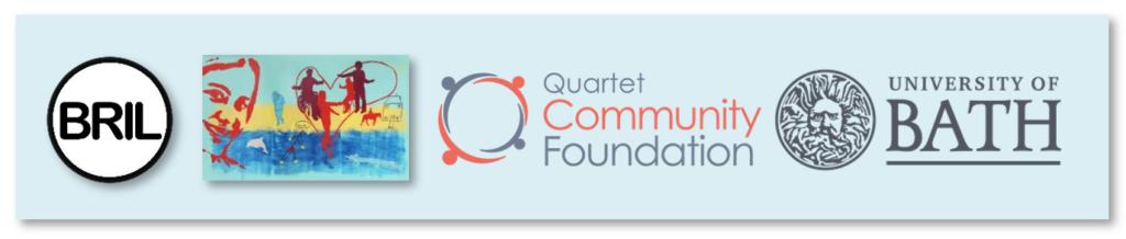 Logos:  BRIL. Disability Murals. The Quartet Foundation. University of Bath.
